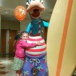 Goofy Statue in lobby