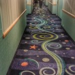 Hidden Mickeys in the carpet, can you see them?