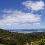 Scenic lookout above Coromandel Town from SH25