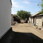 Relatively clean street on Gili Trawangan