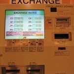 Currency exchange machine at the hotel lobby