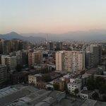 A bela vista da cidade, no 22o andar do hotel