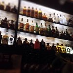 Our wide selection of spirits #elbaroncafe