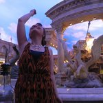 Tossing a coin into the fountain!