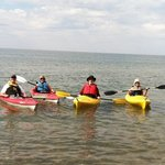 4 kayaks available for crystal clear Lake Superior paddling
