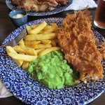 Fish, Chips & Mushy Peas at Wetherspoons in Stone