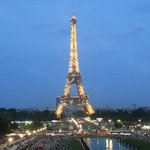 View from Trocadero Plaza (three minutes walking distance from the hotel)