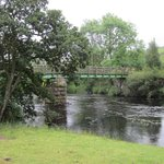 Footbridge over the River Tees near the High Force waterfall
