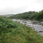 River Tees just upstream from the High Force waterfall