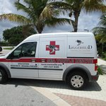 Turtle Hospital Van outside place