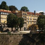 A view of the hotel from the opposite bank of the river Tâmega