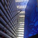 The soaring lobby