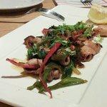 Tasty calamari entree