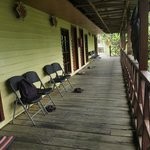 verandah with rooms