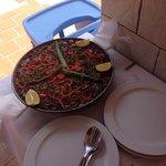 Paella de verduras . Espectacular !!!