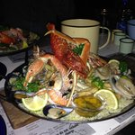 The seafood platter for two...truly a treat and fished infront of the restaurant