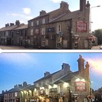 Front view of The White Horse Inn day time & night time