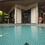 Enjoying pool