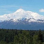 """We could see """"the mountain"""" from Anchorage! This is a shot from the South Turnout."""