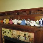 Paula and Steve's teapot collection.