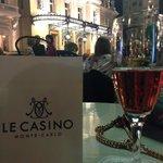 the view from cafe de paris to casino square