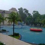 Mesmo em dia de chuva, aproveitei o Resort!