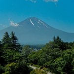 Mt Fuji, visible on a clear day from front-facing rooms & dinning room.