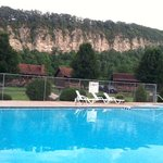 Pool with scenic background