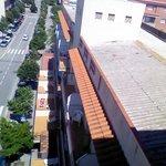 balconies of rooms below