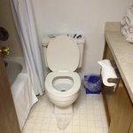 bathroom had water stains-door was warped