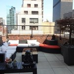 lounge on rooftop terrace
