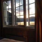 Utsikten fra sengen på rom 217