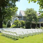 Front yard set up for ceremony