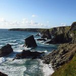 The view from the top of Bedruthan Steps