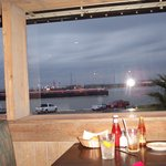watch the freighters while you eat