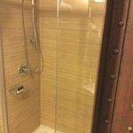 shower with no door
