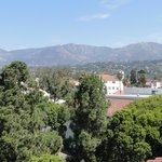 Looking across Santa Barbara from the rooftop area