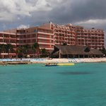 view of hotel from long pier