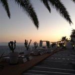 Sun terrace at dusk