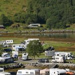 The campsite along side the town area
