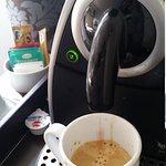 coffee machine in business class room