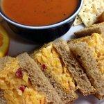 Pimento Cheese and Tomato Basil Soup