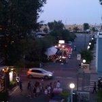 Abends Blick vom Balkon