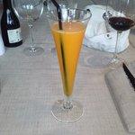 sorbete de mandarina al txakoli