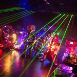 Robot and lasers!