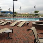 Wonderful outdoor pool area near the Tiki bar