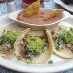 Carnitas Tacos with Refried Beans