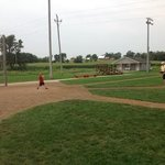 at the bat at Field of Dreams