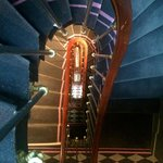 Cool spiral stairs (have elevator too)
