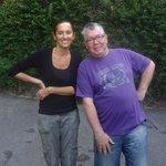 Valérie, notre hôte ainsi que Michel qui hébergeait également à la Villa